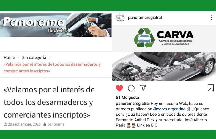 CARVA EN PANORAMA REGISTRAL